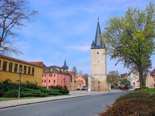 Bild: Der Johannistorturm von Aschersleben.
