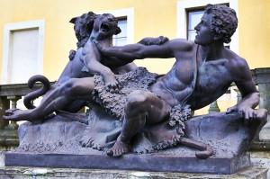 Bild: Bronzeplastik am Schloss Ballenstedt.