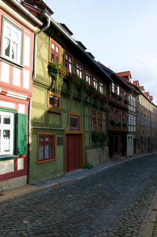 Bild: In den Gassen der Fachwerkstadt Blankenburg am Harz.