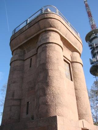 Bild: Der Bismarckturm auf dem Petersberg bei Halle an der Saale.
