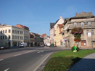 Bild: Am Plan in der Lutherstadt Eisleben.