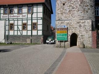 Bild: Ein IFA F8 in den Straßen der Fachwerkstadt Stolberg.