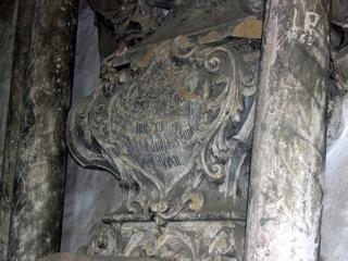 Bild: Epitaph im Bahrenhaus auf dem ehemaligen Friedhof von Hettstedt.