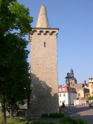 Bild: Der Zuckerhut oder Hexenturm von Hettstedt.