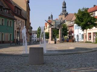 Bild: Auf dem Markt von Hettstedt.