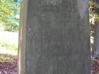 Bild: Das Wolfsdenkmal hatte wie viele alte Denkmale auch die Funktion eines Wegweisers.