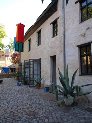 Bild: Der Graue Hof in Aschersleben. Innenansicht.