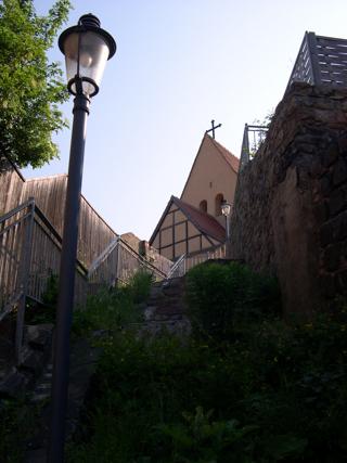 Bild: Die Stiege vom Luisenplatz zum Kupferberg in Hettstedt.