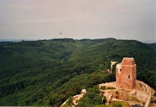 Bild: Die Oberburg auf dem Kyffhäuser.