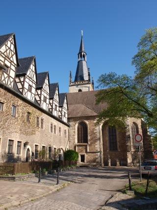 Bild: Das ehemalige Augustiner-Eremiten-Kloster neben der Kirche St. Annen in der Neustadt der Lutherstadt Eisleben.