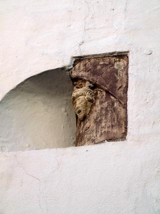 Bild: Portrait des Grafen Hermann von Salm-Luxemburg an der Wand des Rathauses von Eisleben.