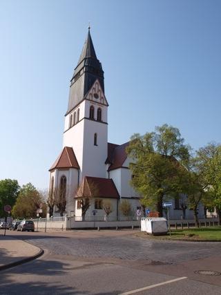 Bild: Die katholische Kirche St. Gertrud in Eisleben.