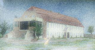 Bild: Das ehemalige Gutshaus im Landschaftspark Degenershausen.