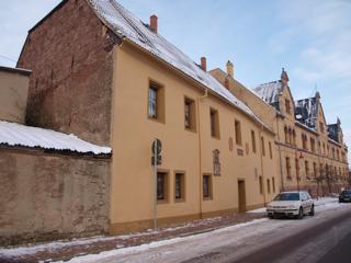 Bild: Das St. Georgenhospital und das Siechenhaus zu Mansfeld.