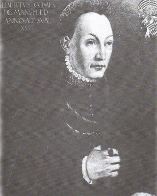 Bild: Albrecht VII. von Mansfeld-Hinterort. Dieses Bild ist gemeinfrei, weil seine urheberrechtliche Schutzfrist abgelaufen ist.