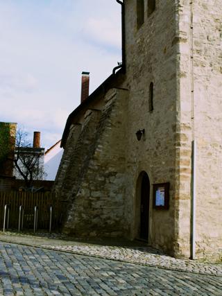 Bild: Die Kirche St. Margarethen zu Aschersleben. Blick auf die Nordwestseite der Kapelle.