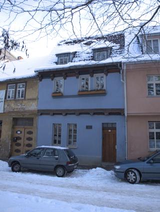 Bild: Das Geburtshaus des Physikers und Chemikers Rudolf Christian Boettger auf dem Stephanikirchhof in Aschersleben.