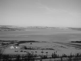 Bild: Winterliche Impressionen von der ehemaligen Aussichtsplattform bei Nachterstedt. Aufnahmen aus dem Januar 2009.