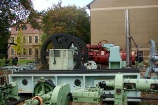 Bild: Verseilmaschine im Mansfeld-Museum in Hettstedt-Burgörner. © 2009 by Bert Ecke.