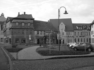 Bild: Am Plan in der Lutherstadt Eisleben stand bis zum Dezember 1991 ein Lenindenkmal. Aufnahmen aus dem März 2006.