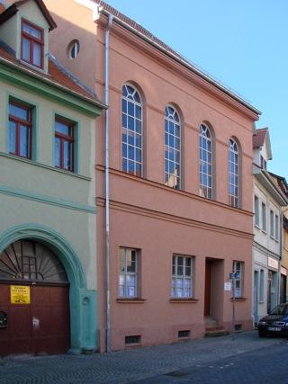 Bild: Die Synagoge in der Lutherstadt Eisleben war in der Zeit vor der Reichskristallnacht das Zenrum jüdischen Lebens in den beiden Mansfelder Kreisen. Aufnahme aus dem Jahr 2007.