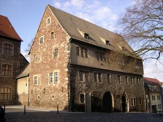 Bild: Die Alte Superindententur zu Eisleben. Johannes Agricola war hier Vorsteher der seinerzeit gerade gegründeten Lateinschule.