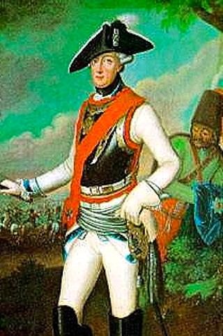Bild: Friedrich Wilhelm von Seydlitz. Ausschnitt aus einem Gemälde eines unbekannten Künstlers. Dieses Bild ist gemeinfrei, weil seine urheberrechtliche Schutzfrist abgelaufen ist.