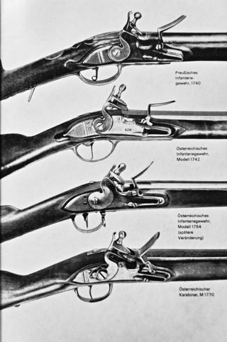 Bild: Gewehre im Siebenjährigen Krieg.