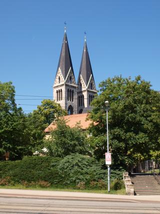 Bild: Der Dom zu Halberstadt von der Martinikirche aus gesehen.