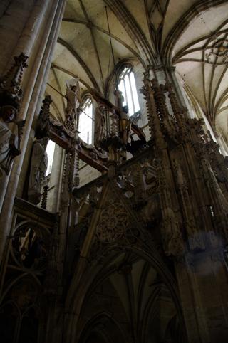 Bild: Detailansicht des Lettner im Dom zu Halberstadt.