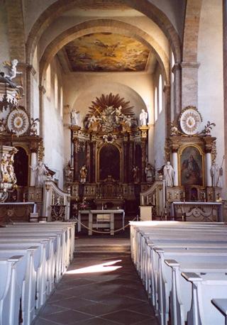 Bild: Im Innenraum der Kirche des Klosters Huysburg.