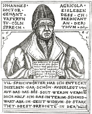 Bild: Johannes Agricola Eisleben als Prediger. Dieses Bild ist gemeinfrei, weil seine urheberrechtliche Schutzfrist abgelaufen ist.