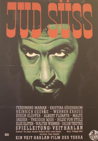 Bild: Ausschnitt aus dem Filmplakat zum nationalsozialistischen antisemitischen Propagandafilm JUD SÜSS. Wolfgang Zeller war der Komponist der Filmmusik.