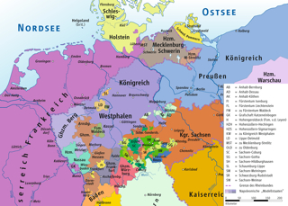 Karte: Karte des Königreichs Westphalen im Jahre 1812. Diese Datei ist unter der Creative Commons-Lizenz 3.0 Unported lizenziert. Urheber Ziegelbrenner.
