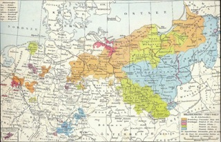 Bild: Karte Preußen im 18. Jahrhundert. G. Droysens Historischer Handatlas, 1868. Dieses Bild ist gemeinfrei, weil seine urheberrechtliche Schutzfrist abgelaufen ist.