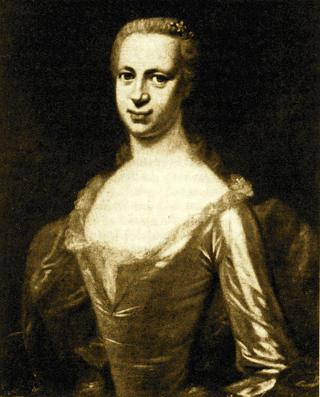 Bild: Margareta Klopstock in einem Gemälde von Dominicus van der Smissen, um 1754. Dieses Bild ist gemeinfrei, weil seine urheberrechtliche Schutzfrist abgelaufen ist.
