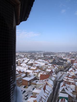 Bild: Blick vom Südturm der Kirche St. Stephani über die altehrwürdige Stadt Aschersleben.