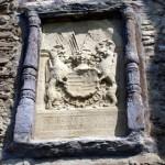 Bild: Wappen der Grafen von Mansfeld an der Südwestseite der Burg Arnstein.