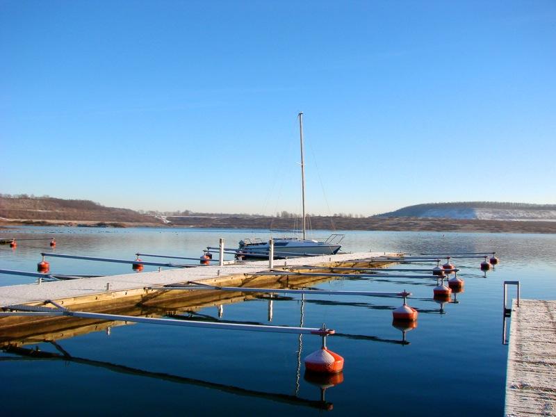 Bild: Marina am Nordufer des Concordiasee bei Schadeleben.