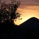 Sonnenuntergang am Fortschrittschacht bei Lutherstadt Eisleben.