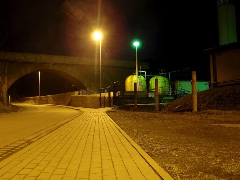 Nacht an der Kupfer-Silber-Hütte bei Hettstedt.