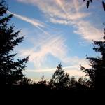 Sonnenuntergang über Greifenhagen.