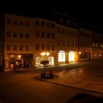 Der Markt der Lutherstadt Eisleben bei Nacht