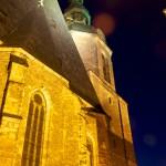 Die Andreaskirche in Eisleben bei Nacht