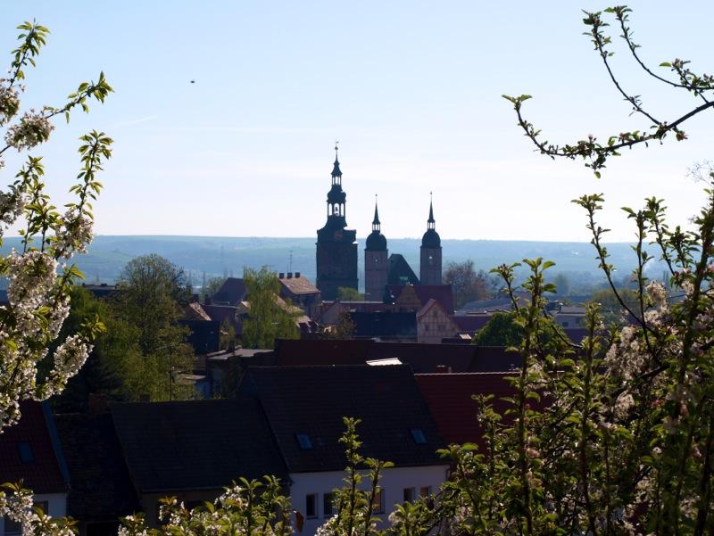 Bild: Eisleben - Blick von St. Annen auf die Altstadt.