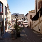 Eisleben - Am Rathaus mit Blick auf den Markt.