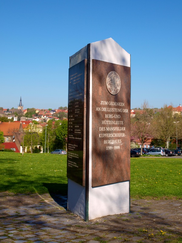 Bild: Eisleben - Am Denkmal SEILSCHEIBE.