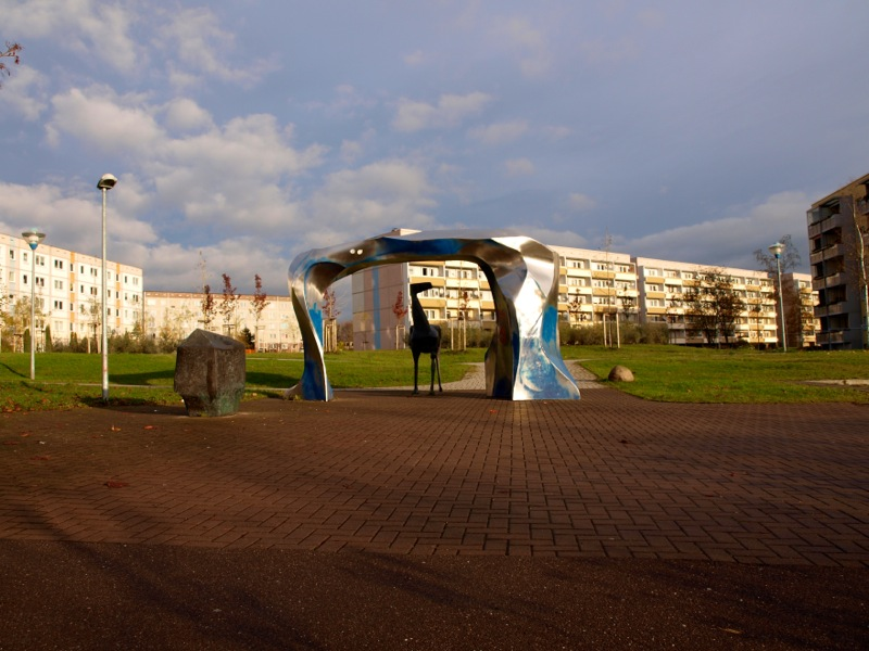 Eisleben - Das Denkmal HUNT, STOLLN UND GRUBENPFERD