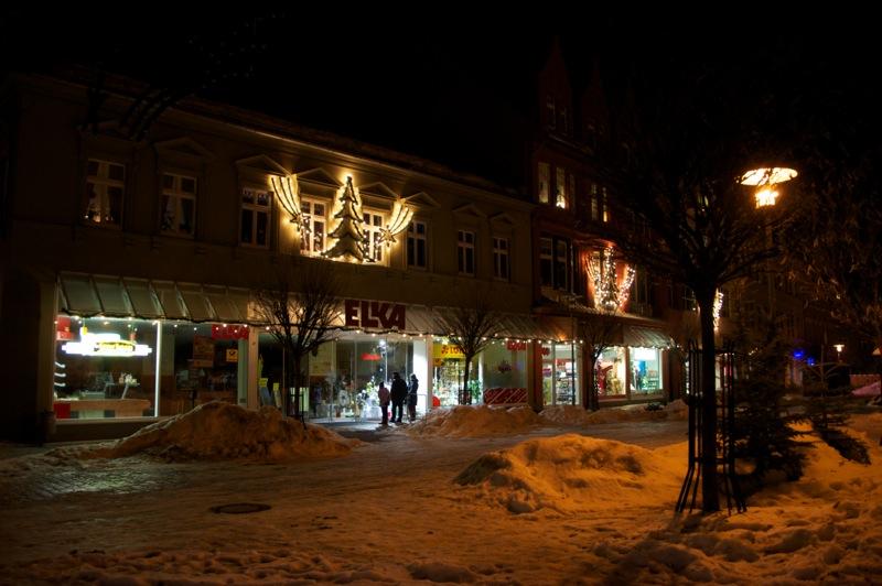 Das ELKA Kaufhaus auf dem Markt zu Aschersleben
