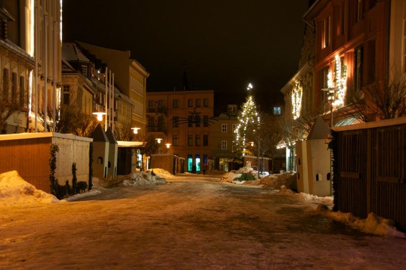 Reste des Weihnachtsmarktes